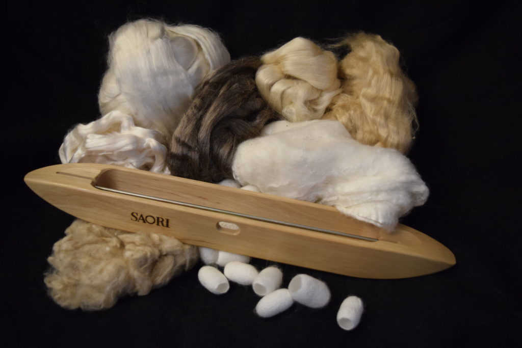 Silk spinning and weaving